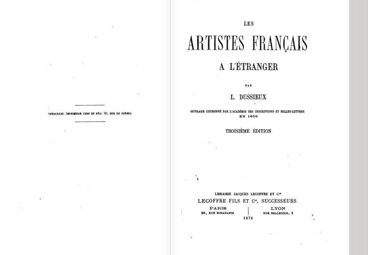 Les artistes français à l'étranger, 1876 (3° ed)