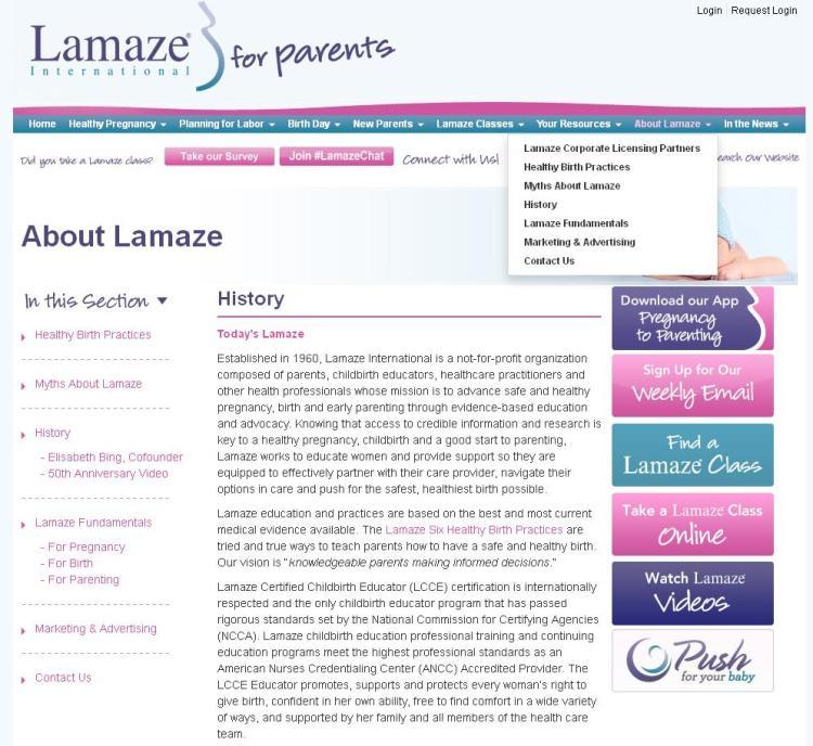 Lamaze International for parents