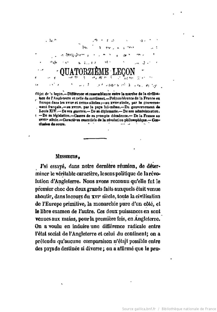 Histoire de la civilisation en [...] Guizot François (quatorzième leçon)