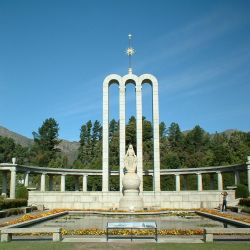 The Huguenot Monument in Franschhoek, South Africa, commemorating the cultural contribution of French Huguenots