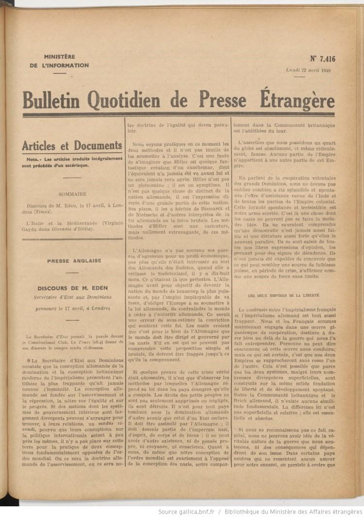 histoire-de-la-mediterranee-la-france-giornale-ditalia-avril-1940