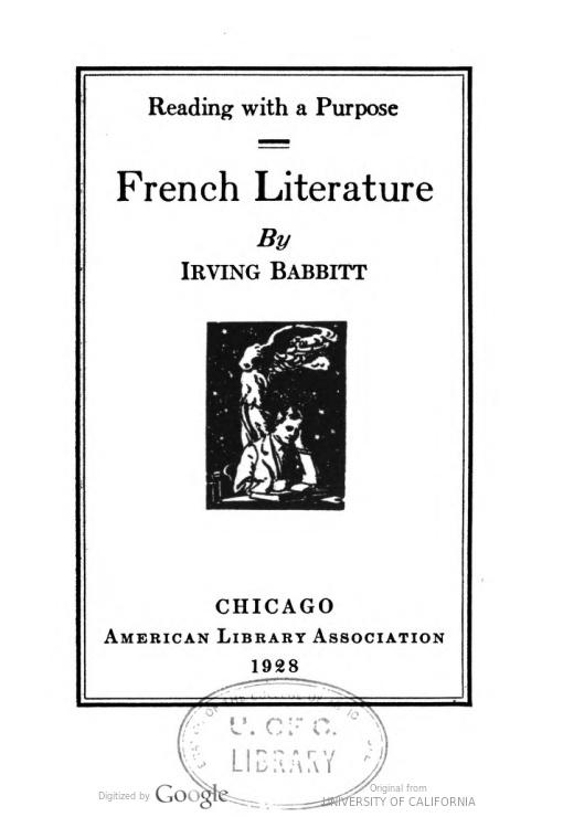 french-literature-babbitt-irving-1928