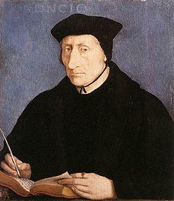 Guillaume Budé Portrait par Jean Clouet (1536).