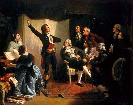 Rouget de Lisle chantant la Marseillaise dans le salon de Dietrich