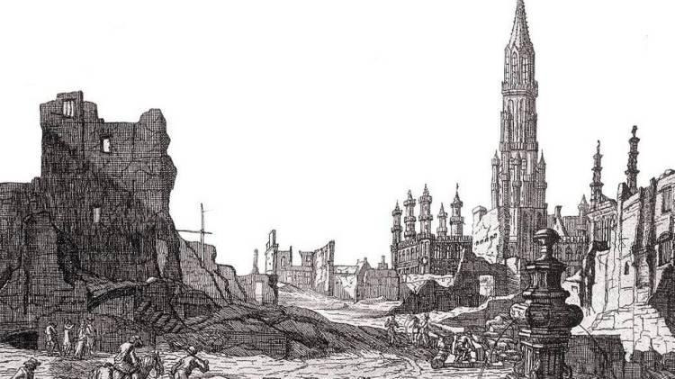gravure-dapres-un-dessin-de-augustin-coppens-representant-la-grand-place-de-bruxelles-apres-le-bombardement-de-1695-par-les-troupes-francaises-de-louis-xiv-de-vue-du