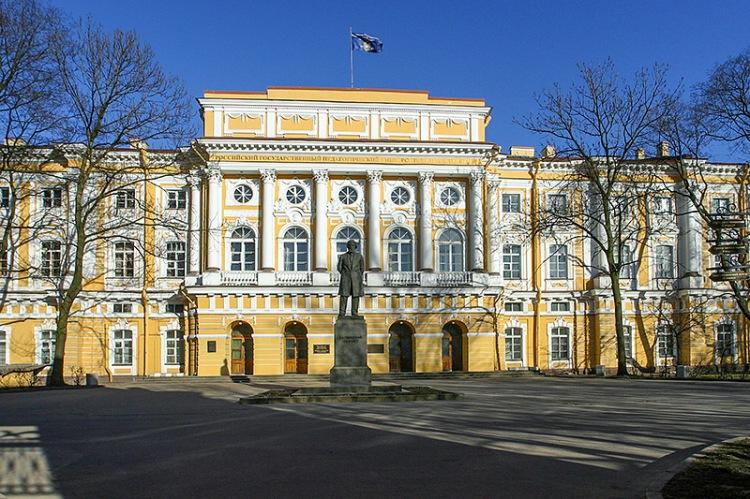 Razumovskiy Palace on the Moyka River Embankment designed by Vallin de la Mothe