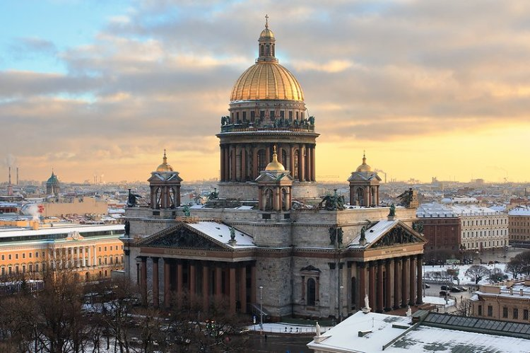 St. Isaac's Cathedral by Auguste de Montferrand