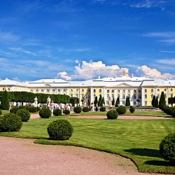Upper Garden at Peterhof designed by Le Blond