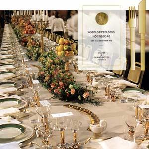 Menus at the Nobel Banquet