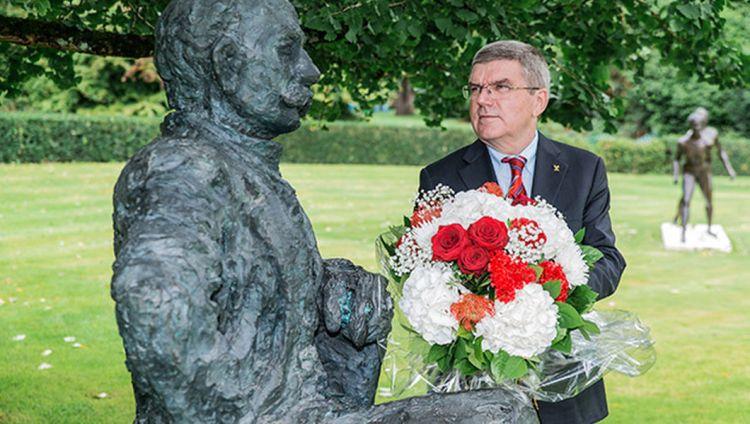 """Célébration du 100e anniversaire de l'installation du CIO dans la """"capitale olympique"""" de Lausanne"""