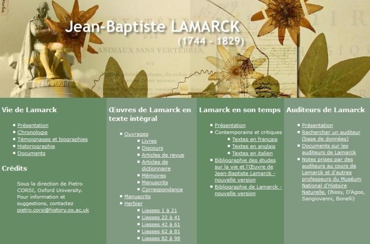 Œuvres et rayonnement de Jean-Baptiste Lamarck (cnrs)