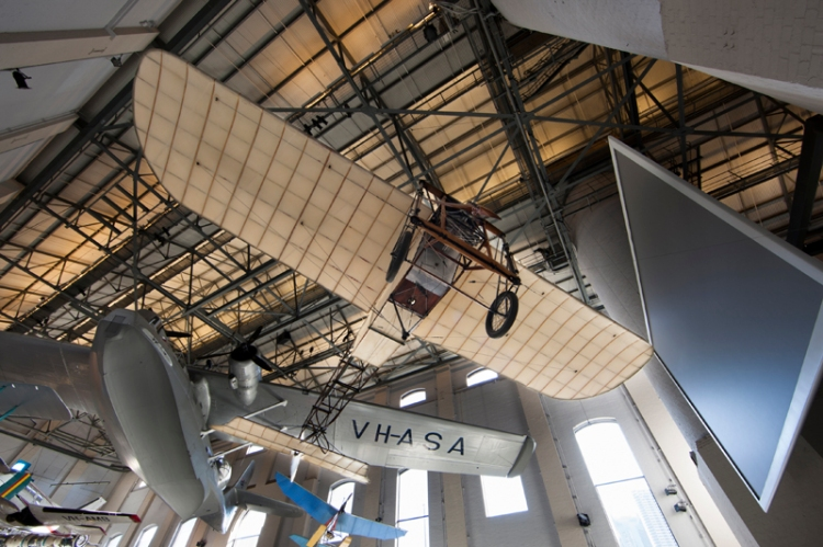 Object L611 Bleriot XI monoplane, 1914 in Transport Exhibition.