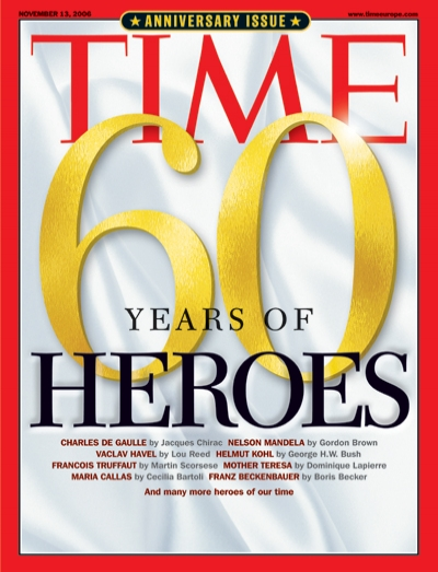 Times Magazine Europe - 60 years of Heroes