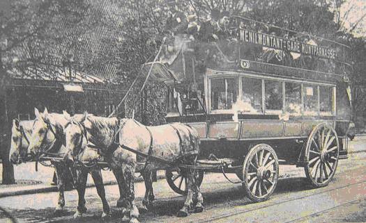 Omnibus parisien 1850