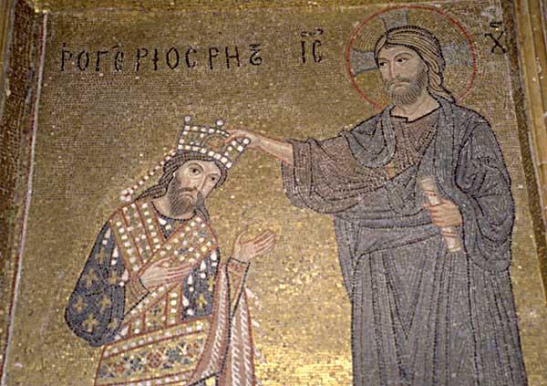 la sicile normande_Roger II de Sicile en habit byzantin