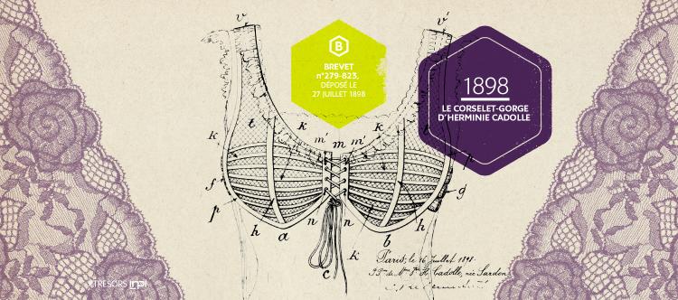 Le corselet-gorge, premier soutien-gorge de l'histoire (1898)