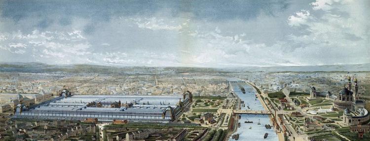 Panorama sur les palais de l'Exposition de 1878