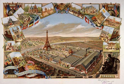Vue générale de l'exposition universelle de 1889, Paris
