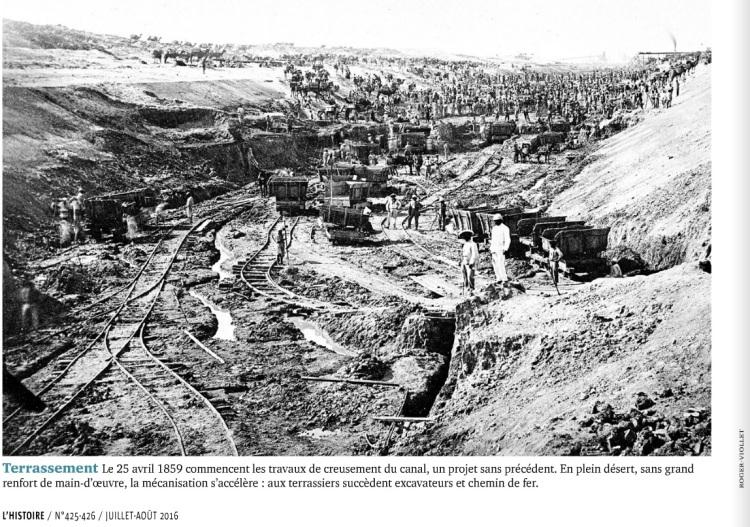 XIXe siècle, le monde est à nous !, l'histoire n°425. Terrassement du canal de Suez.jpg