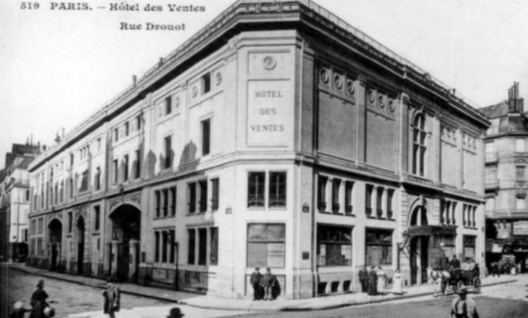 Hotel de Drouot, Paris auction house, 1852.