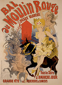 Poster for Bal du Moulin Rouge, by Jules Chéret, 1889.