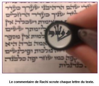 Le commentaire de Rachi scrute chaque lettre du texte.