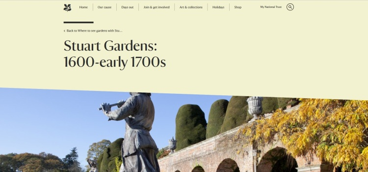 Stuart Gardens 1600-early 1700s