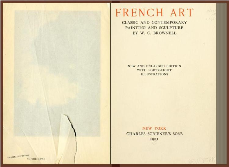 French art, classic and contemporary, painting and sculpture (W.C Brownelle 1905)