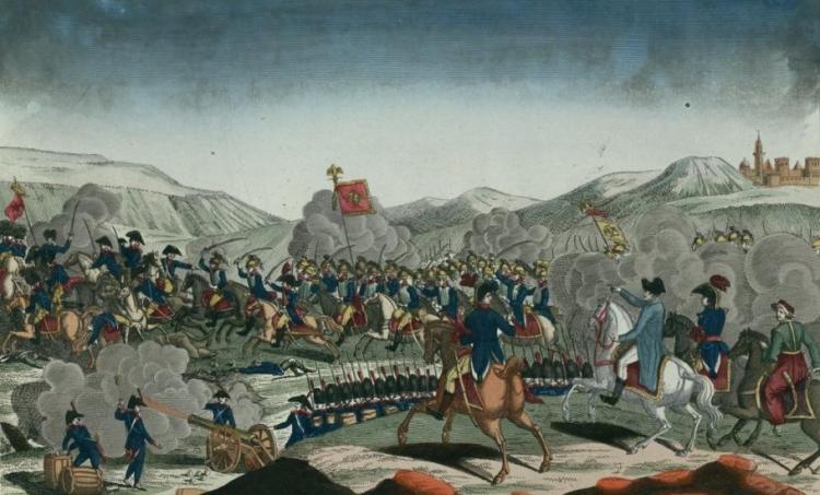 Bataille de Jena, estampe ; source Gallica BnF