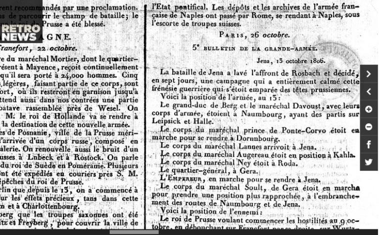 Iéna, la victoire française qui scella le sort de la Prusse (le journal de l'Empire, 27 octobre)