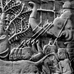 Bayon : défilé de l'armée Khmère (bas-relief)