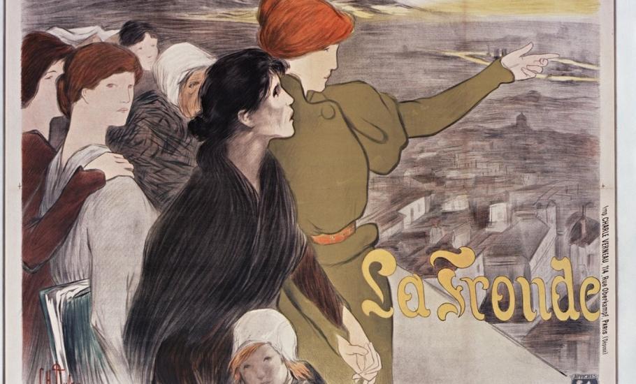 Affiche pour La Fronde ; Clémentine Hélène-Dufau ; 1898 - source Gallica BnF
