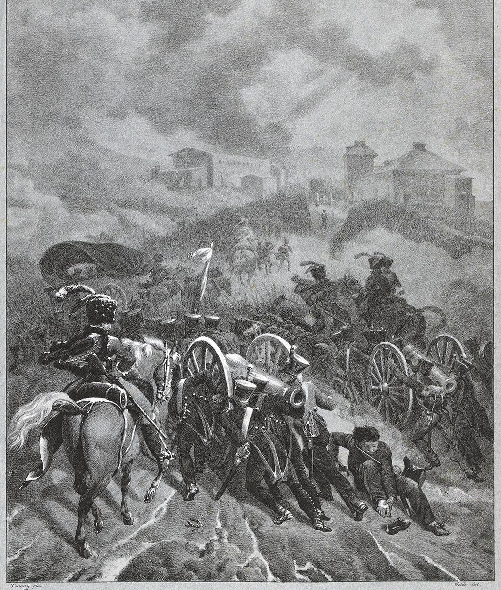 Passage de la Guadarana [sic] par l'armée française en Espagne