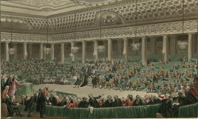 4 août 1789 abolition des privilèges et droits féodaux-Assemblée nationale, abandon de tous les privilèges à Versailles, séance de la nuit du 4 au 5 Août 17
