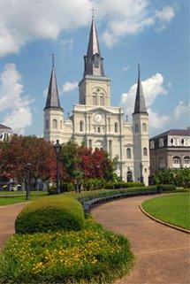 E.U, Nouvelle-Orléans, quartier français, Cathédrale Saint-Louis