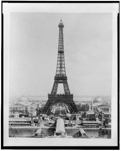 Eiffel Tower at the 1889 Exposition, from Library of Congress, at loc.gov.