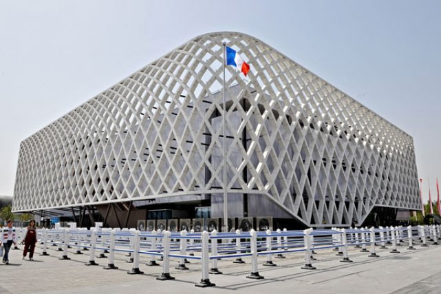 Le pavillon français, le plus visité de l'Expo de Shanghai. Photo AFP
