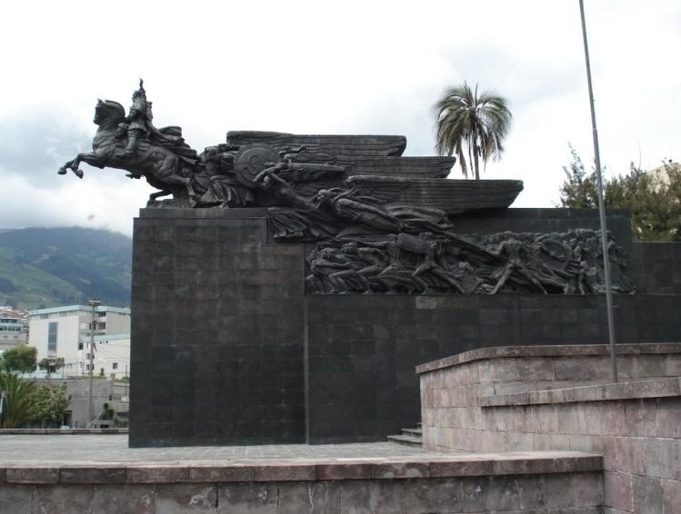 Monument Simón BOLÍVAR dans le « Parque La Alameda » à Quito.