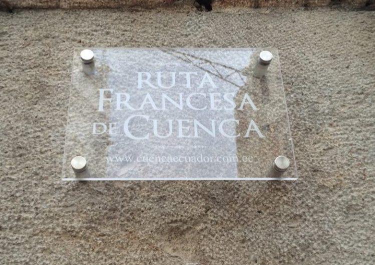 Ruta Francesa de Cuenca-plaque commémorative