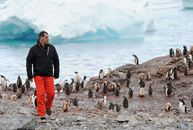 """French filmmaker Luc Jacquet, who wrote and directed the Oscar-winning """"March of the Penguins,"""" is turning his attention to the story of Lorius, an influential climate scientist few have heard of. Photo courtesy of """"Ice and the Sky."""""""
