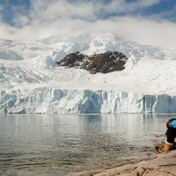 "French glaciologist Claude Lorius, 84, has taken part in more than 20 polar expeditions, mostly to Antarctica, and was one of the first scientists to foresee the ice melt now occurring in the region. He returned to Antarctica for the filming of ""Ice and the Sky,"" which tells his story. Photo courtesy of ""Ice and the Sky."""