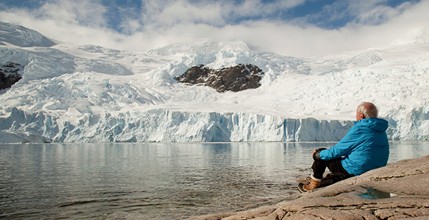 """French glaciologist Claude Lorius, 84, has taken part in more than 20 polar expeditions, mostly to Antarctica, and was one of the first scientists to foresee the ice melt now occurring in the region. He returned to Antarctica for the filming of """"Ice and the Sky,"""" which tells his story. Photo courtesy of """"Ice and the Sky."""""""