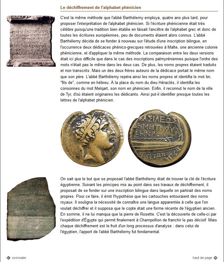 L'abbé Barthélemy, déchiffreur d'alphabets oubliés