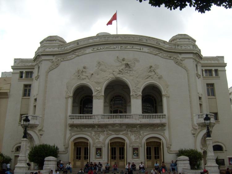 Tunisie, Tunis, Théâtre municipal