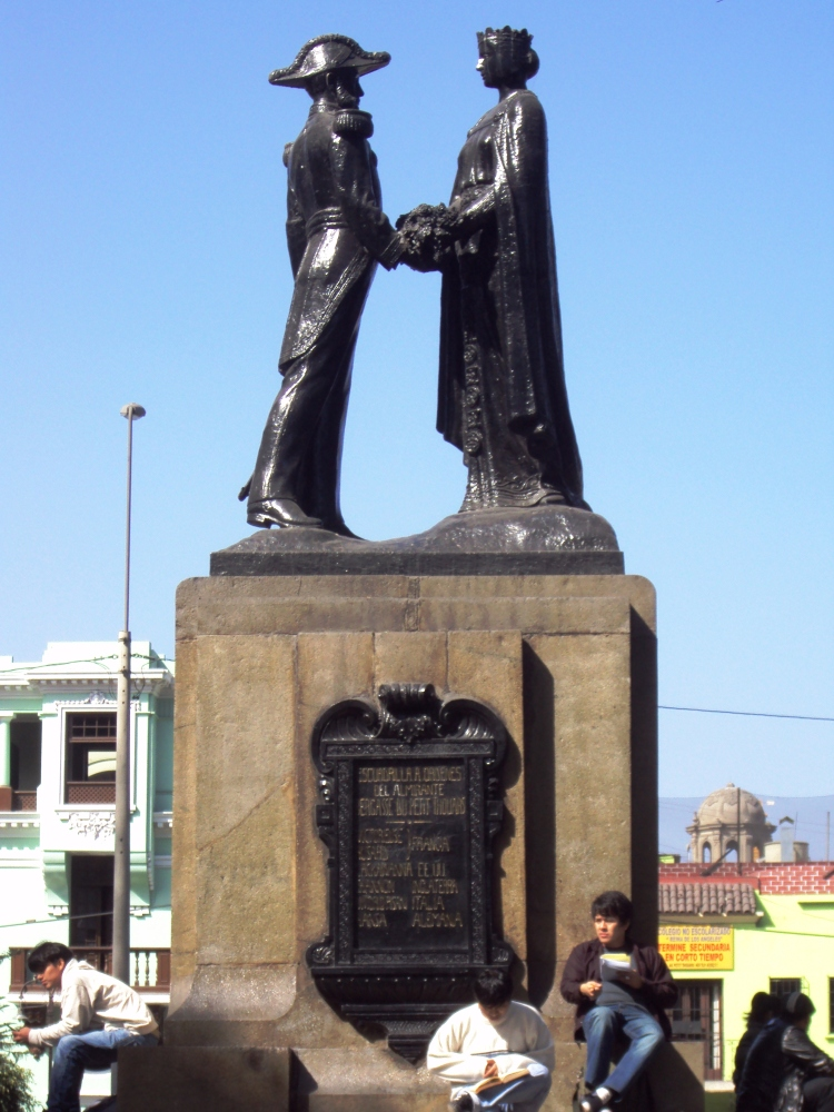Agradecimiento de la Patria al contralmirante Du Petit Thouars, monumento en Santa Beatriz (Lima).