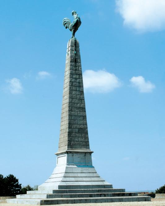 Le monument au Coq à Jemappes - Guy Focant © SPW-Patrimoine