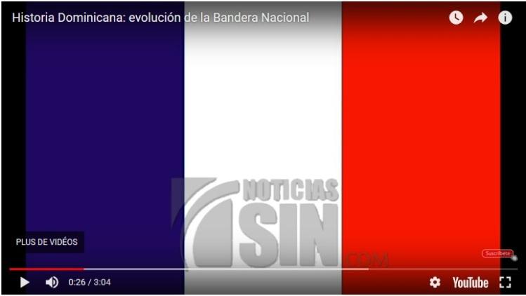 Drapeau français dans le reportage tv dominicaine (capture écran)