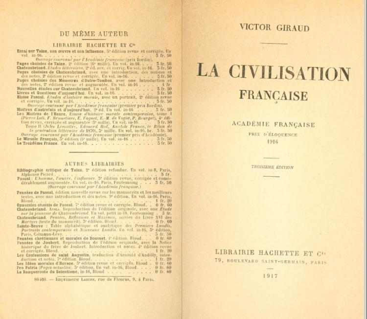 La civilisation française (Giraud, Victor, 1868-1953)