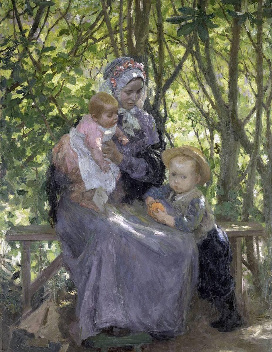 Le bosquet. Gari Julius MELCHERS (1860 - 1932) © Photo RMN-Grand Palais - G. Blot