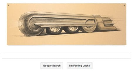 Raymond Loewy celebrated in a Google doodle
